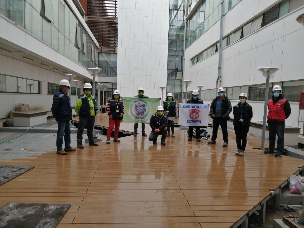Fedeprus VSA y Aprus Claudio Vicuña visitaron las intalaciones del nuevo hospital de San Antonio